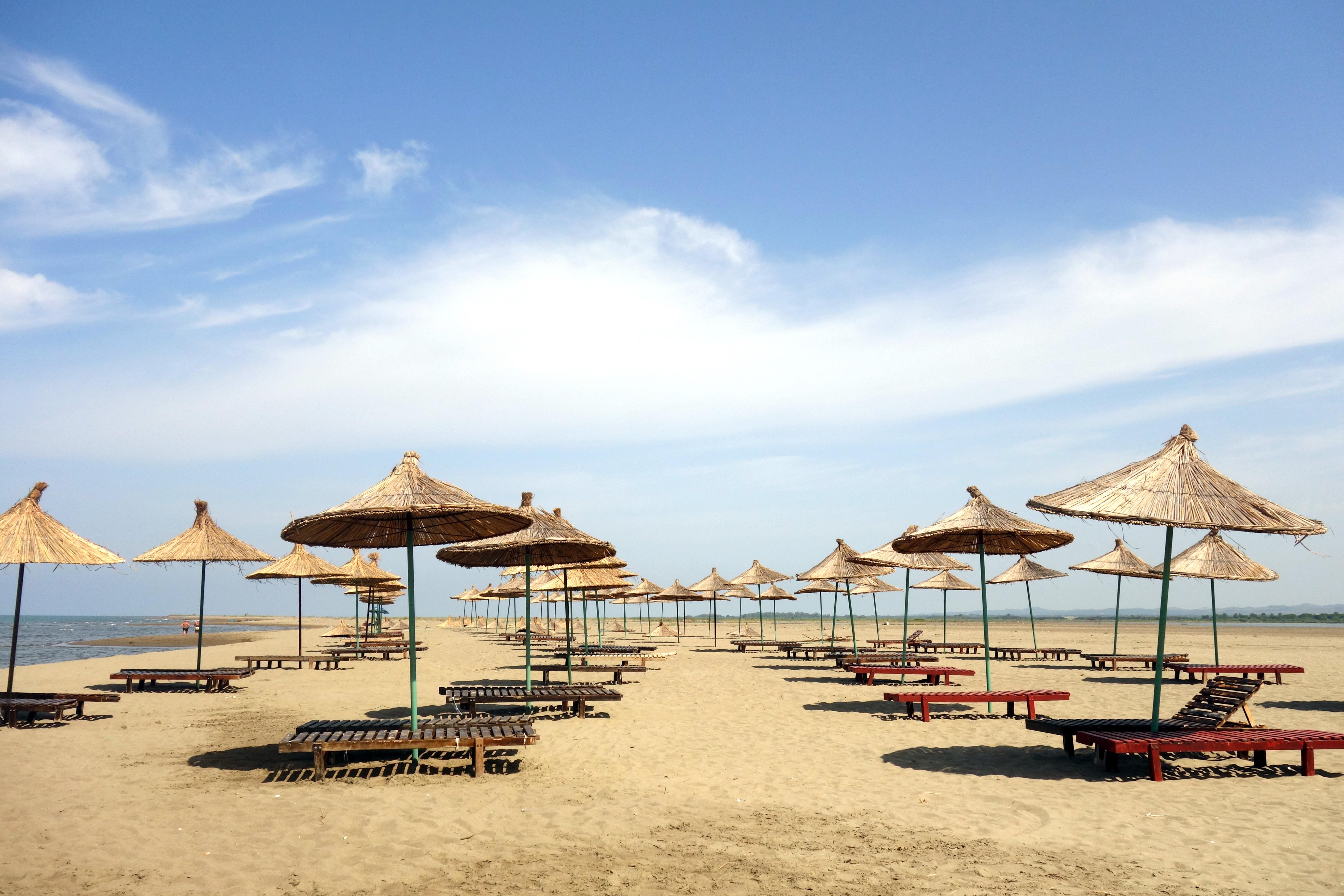 plage de la lagune en Albanie