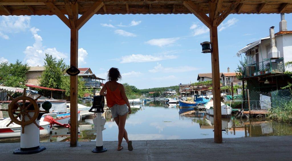 village de pêcheurs sur la côte bulgare