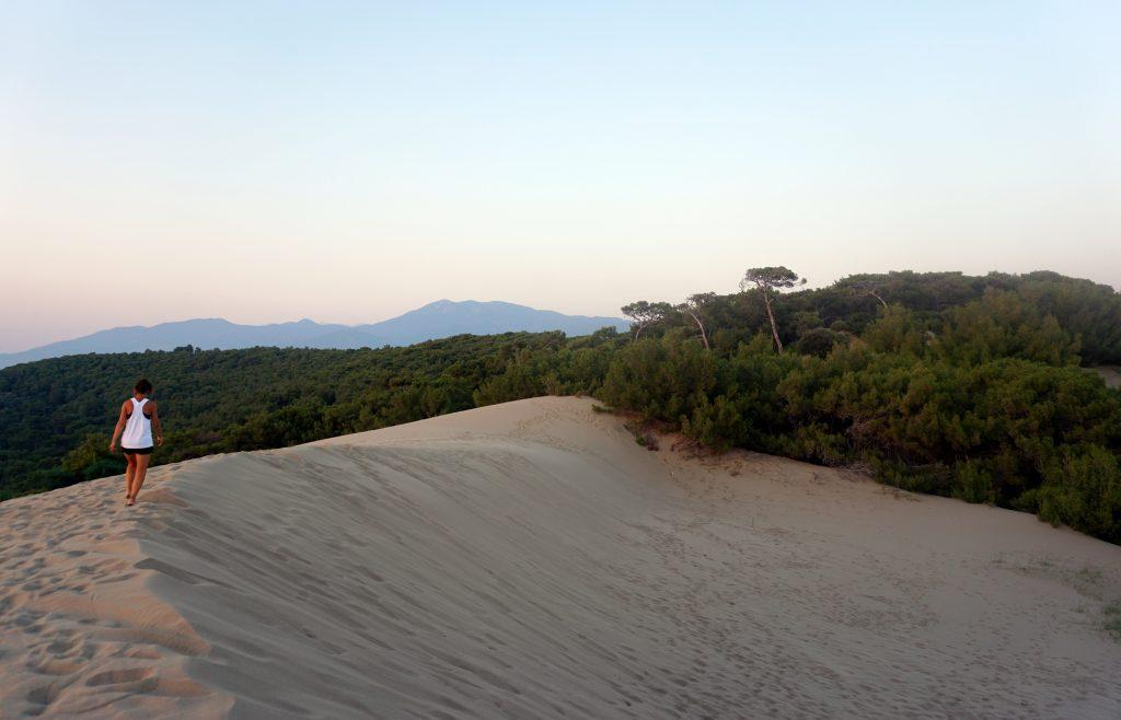 Les dunes de pataras sur la côte lycienne à quelques kilomètres de Fethye