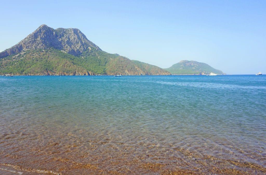 La plage d'Adrasan sur la côte Lycienne