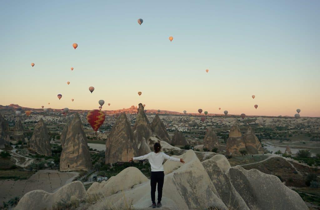 Réveil face aux montgolfières de la Cappadoce, une vraie découverte
