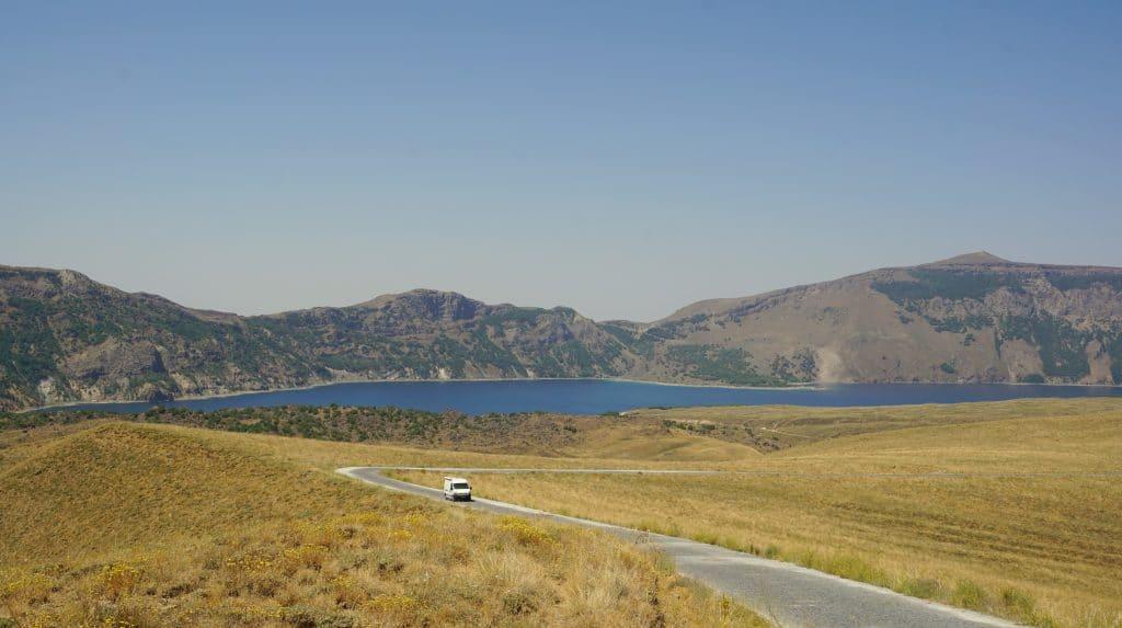 Nemrut lake, cratère à l'est de la turquie