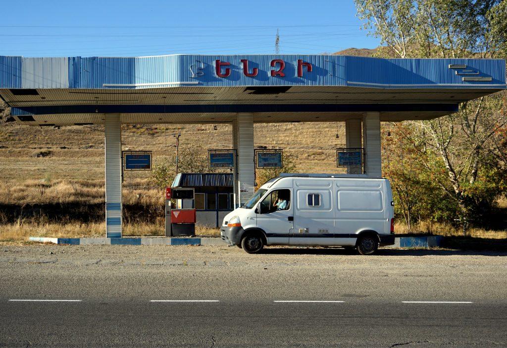 Arménie station service à l'abandon