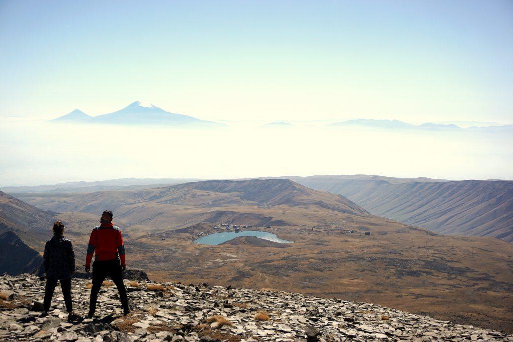 Arménie, sommet du mont Aragat