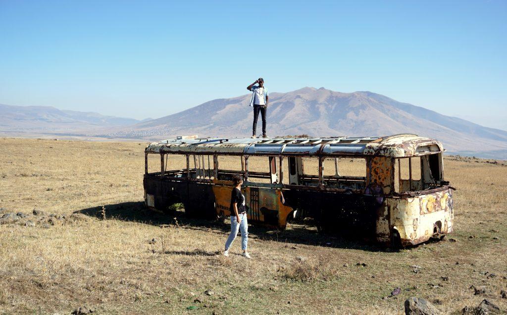 Arménie, sur la route du mont aragat