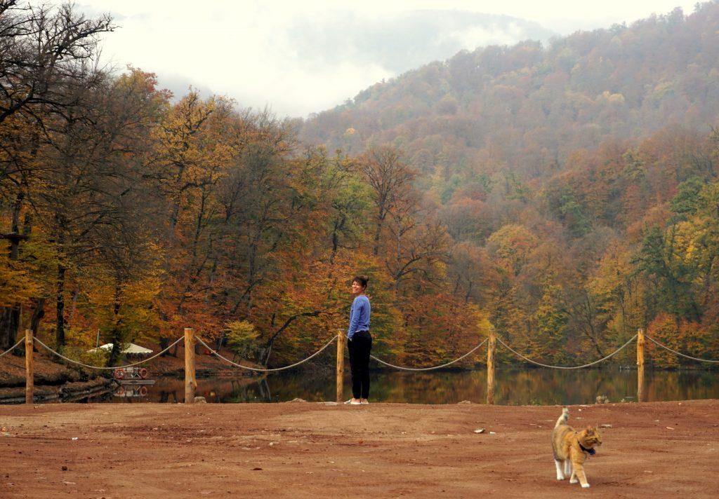 arménie, parc national du dilijan, lac parz en automne