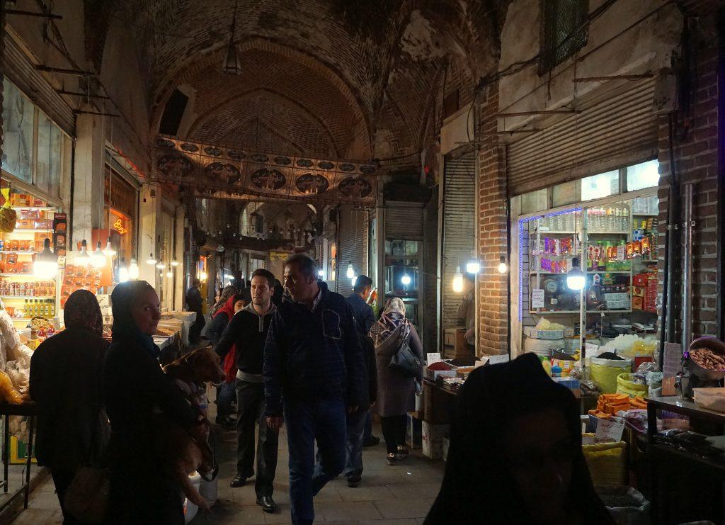 bazar historique tabriz en iran