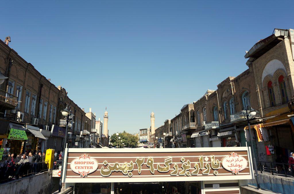 La rue du bazar tabriz iran
