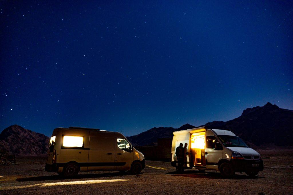 désert de yazd de nuit iran