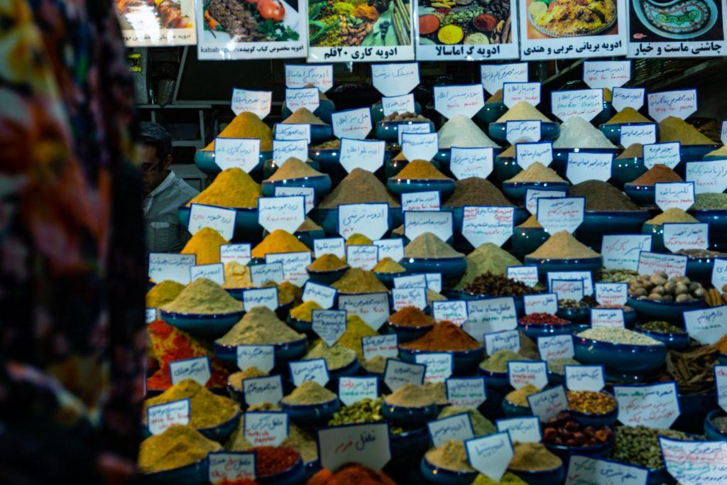 iran épices bazar chiraz
