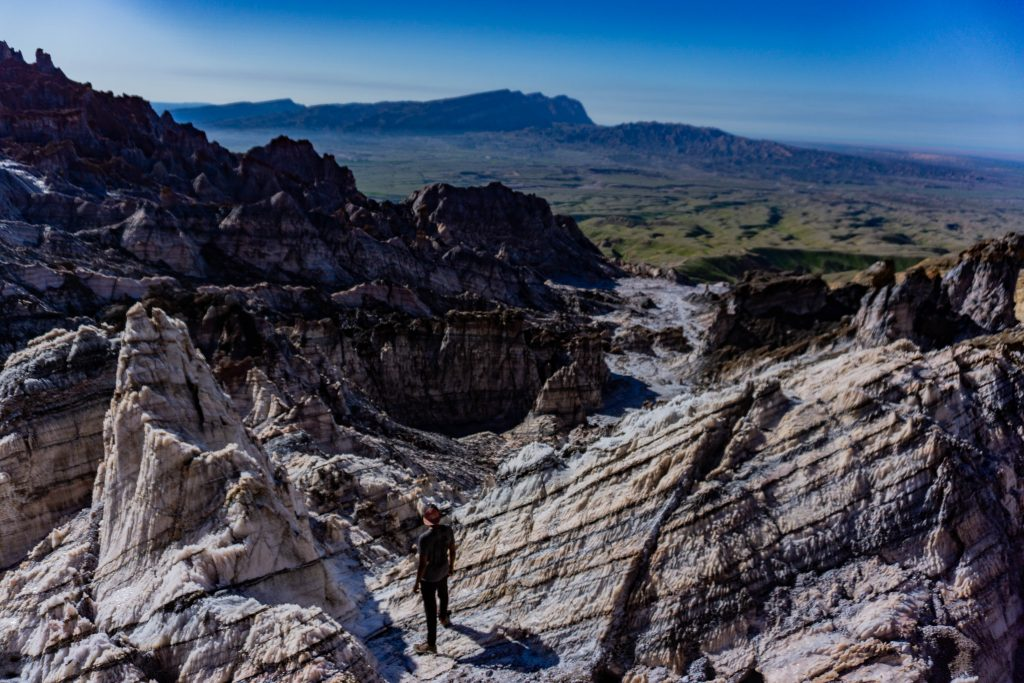 montagne salée iran golfe persique
