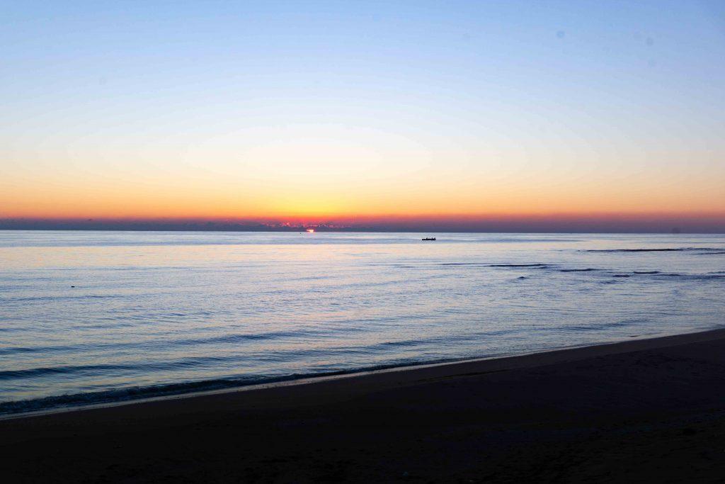 coucher de soleil sur le golfe persique