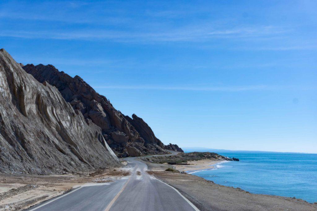 route du littorale sur le golfe persique en Iran