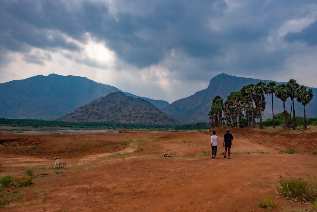 les paysages d'athoor, région agricole du sud de l'Inde