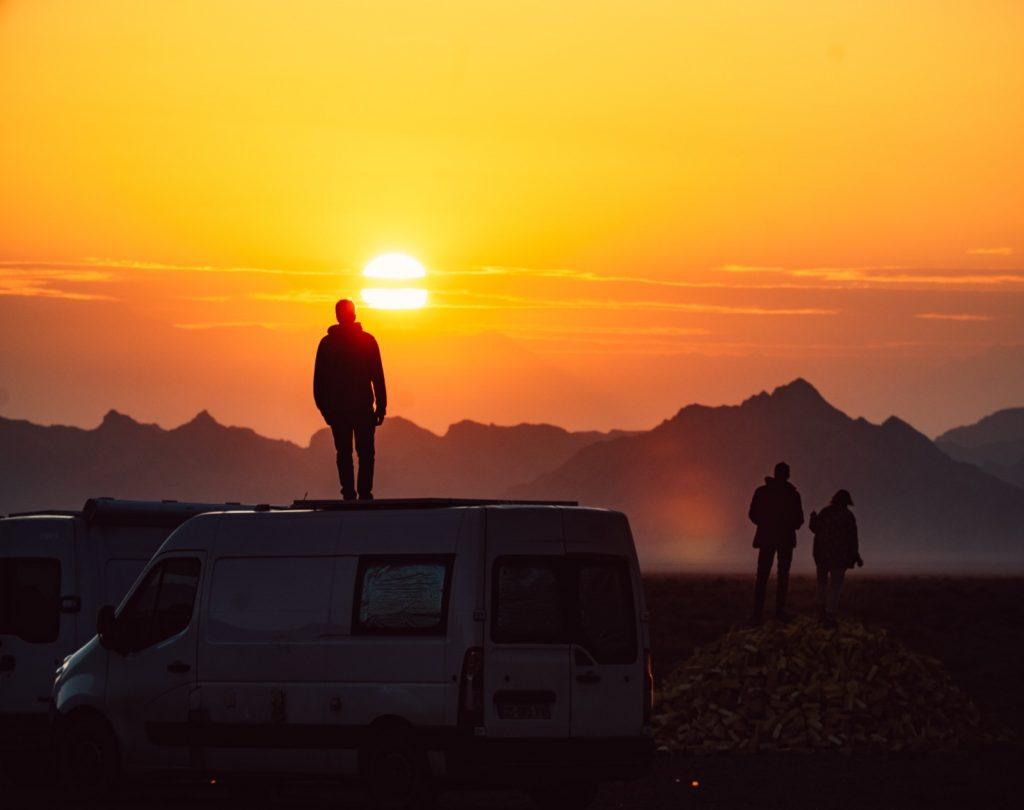 Route de la soie en van Iran