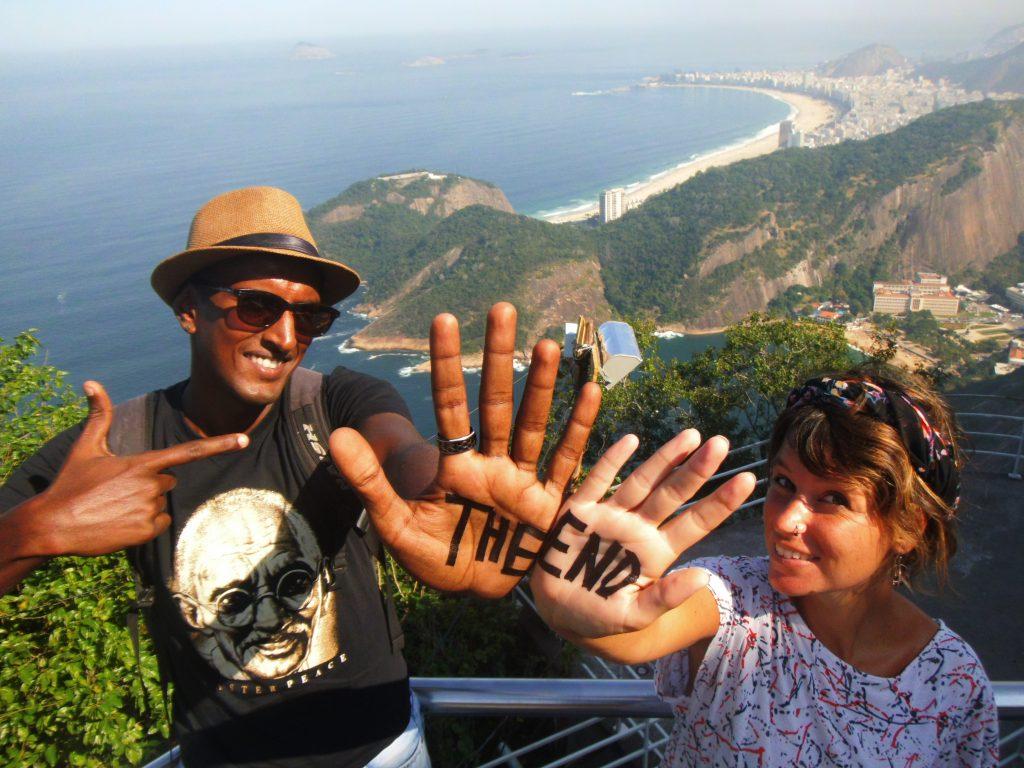 Rio de Janeiro depuis le pain de sucre  fin d'un voyage autour du monde